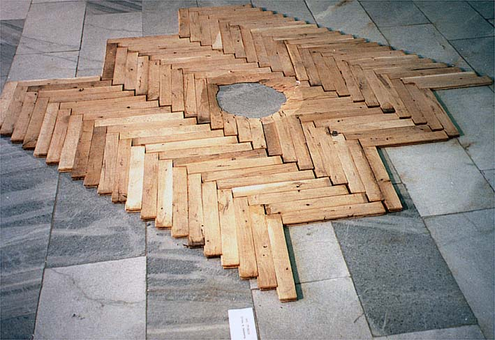 A hole in the parquet